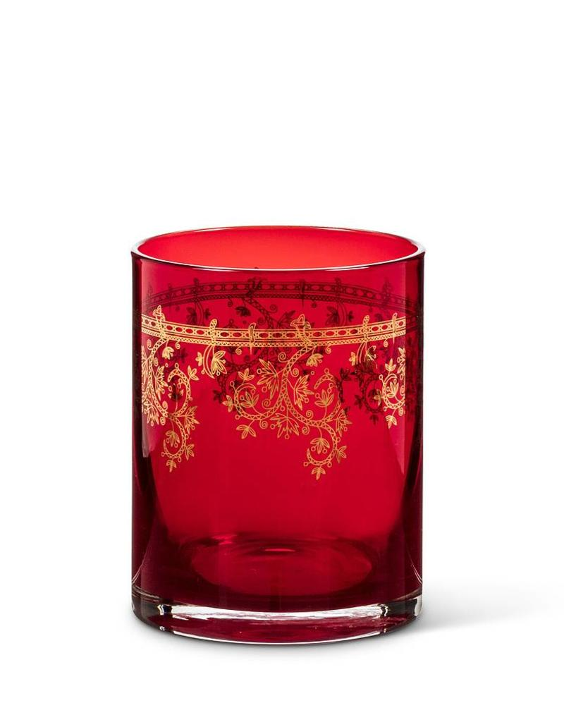 Abbott Red Tumbler Gold Friligree
