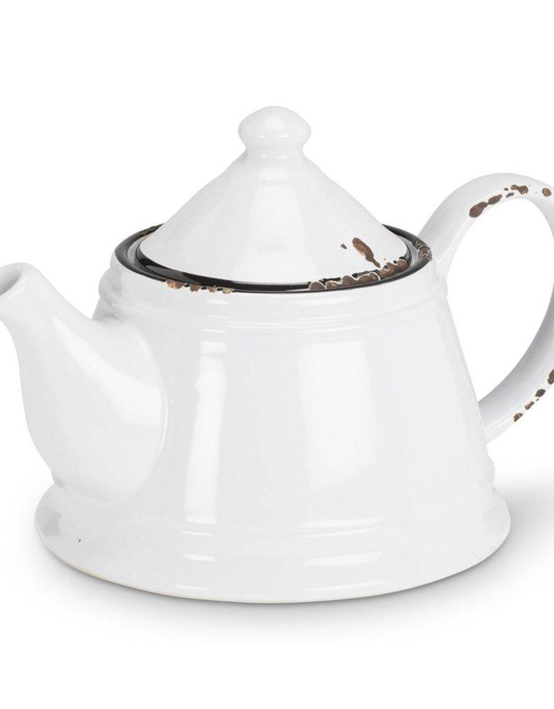 Abbott Teapot - Enamel White