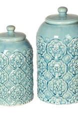 Crestview Ceramic Canisters , Set of 2