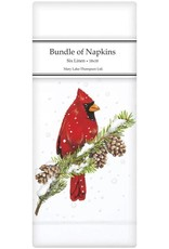 Mary Lake-Thompson Ltd Cardinal on Pine Linen Napkins