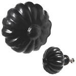 Flower Iron Knob, Black