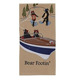 Park Design Bear Footin' Embroidered Dish Towel