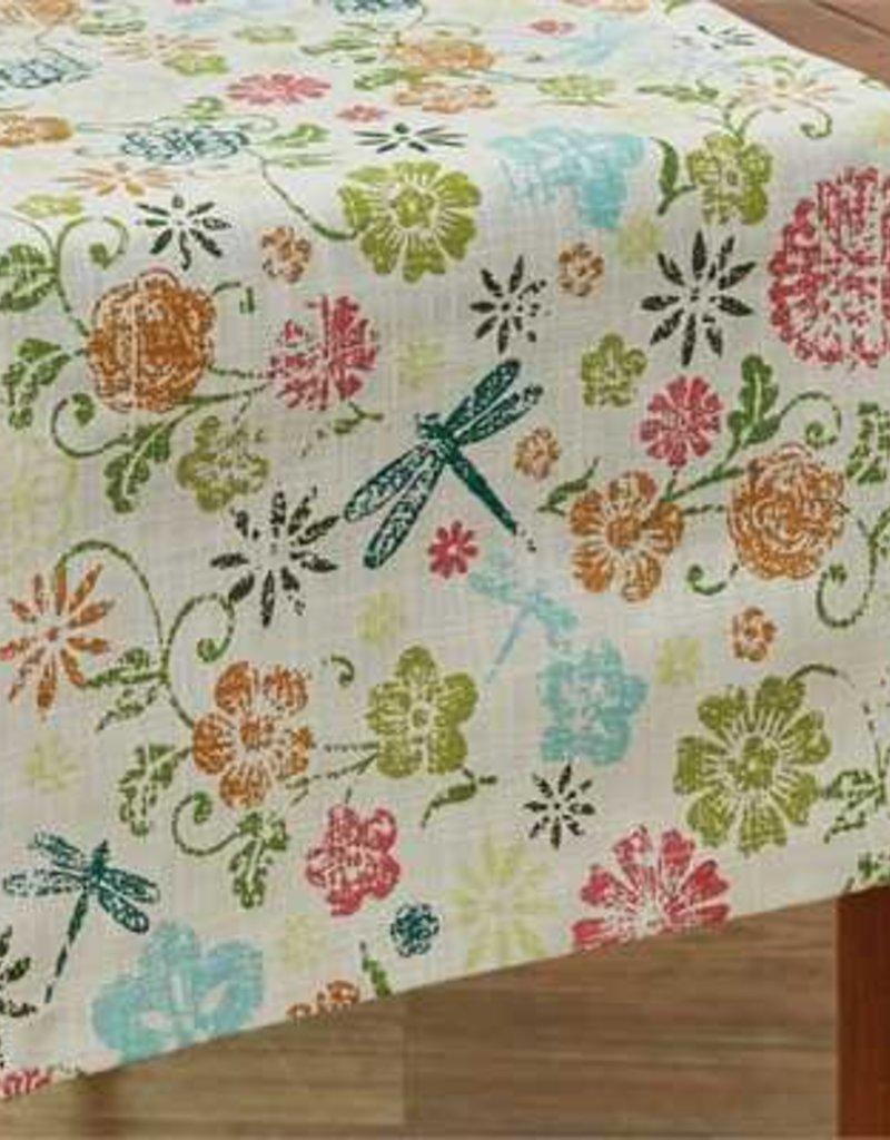 """Park Design Dragonfly Floral Table Runner 72"""""""