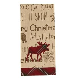Park Design Highland Holiday Moose Guest Towel