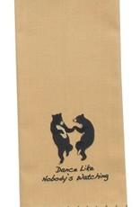 Park Design Tea Towel, Dance Like Nobody's Watching