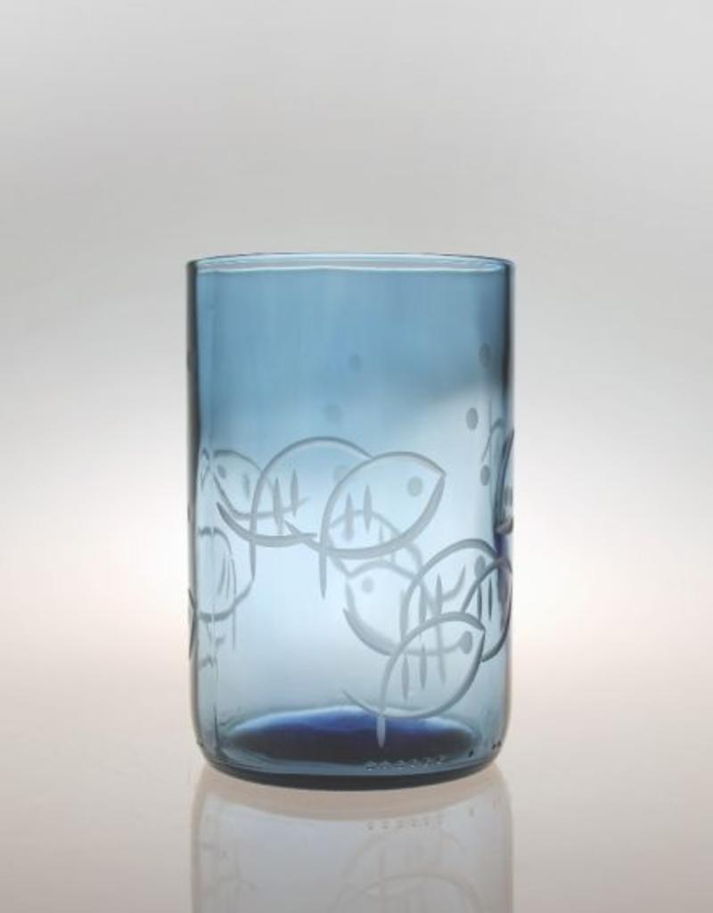 Rolf Glassware Blue Fish 14 oz. Tumbler