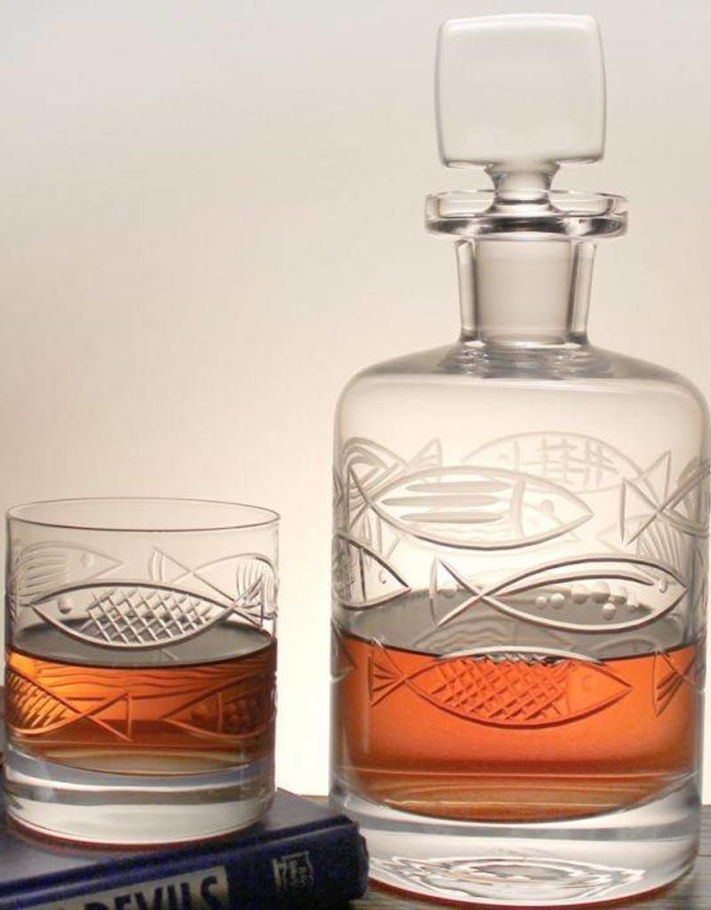Rolf Glassware Go Fish Whiskey Decanter