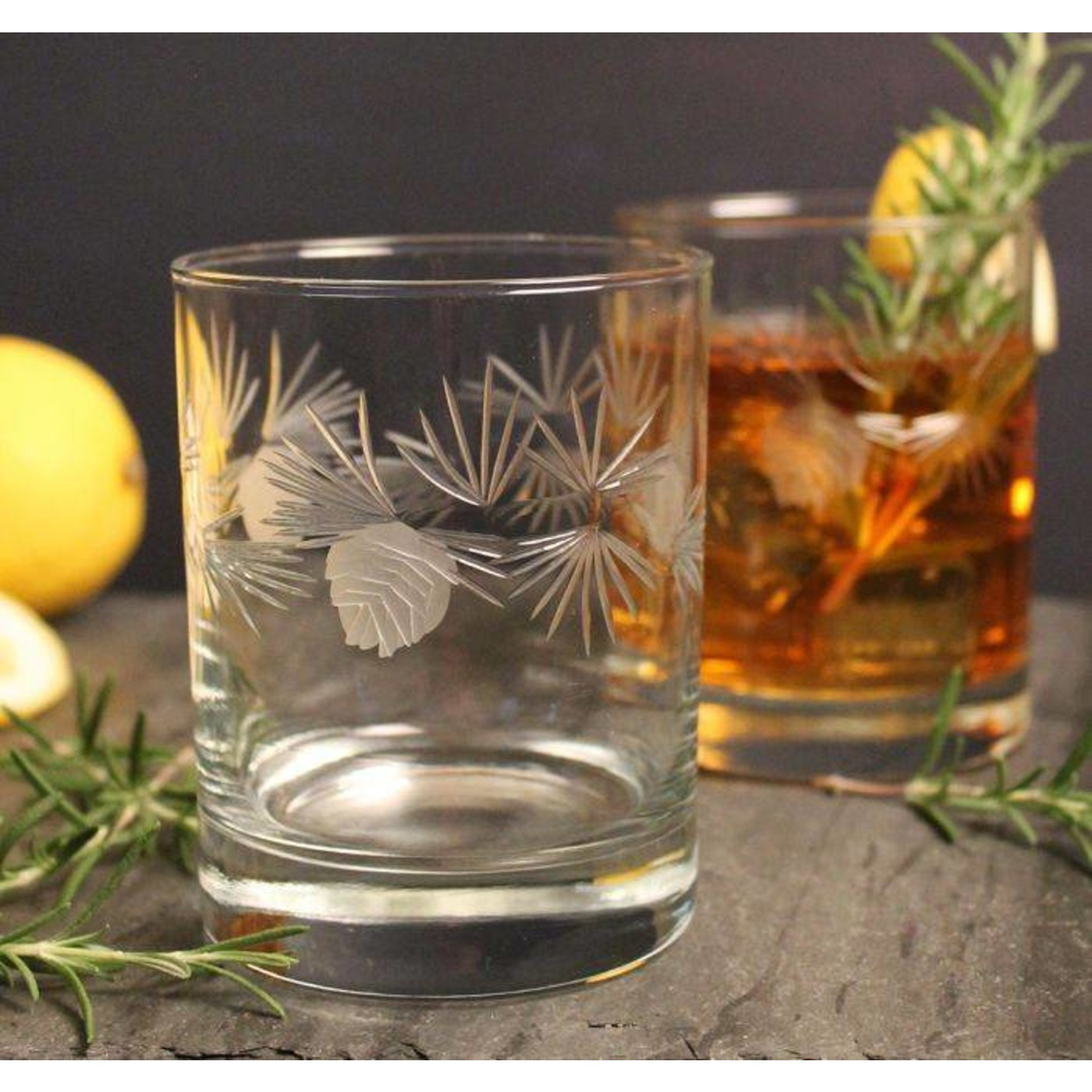 Icy Pine 14oz Double Old Fashioned Short Glass