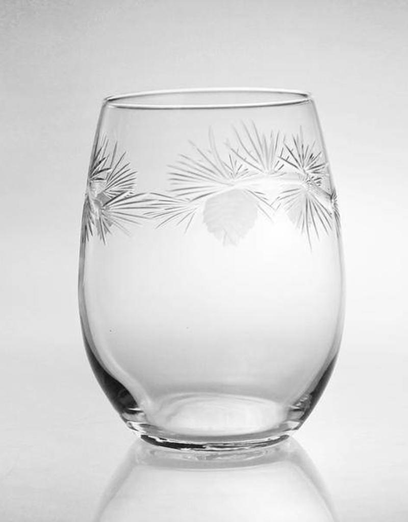 Rolf Glassware Icy Pine - Wine Tumbler (15 oz)