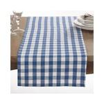 French Blue Gingham Design Runner