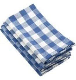 Saro Trading Company French Blue Gingham Design Napkins