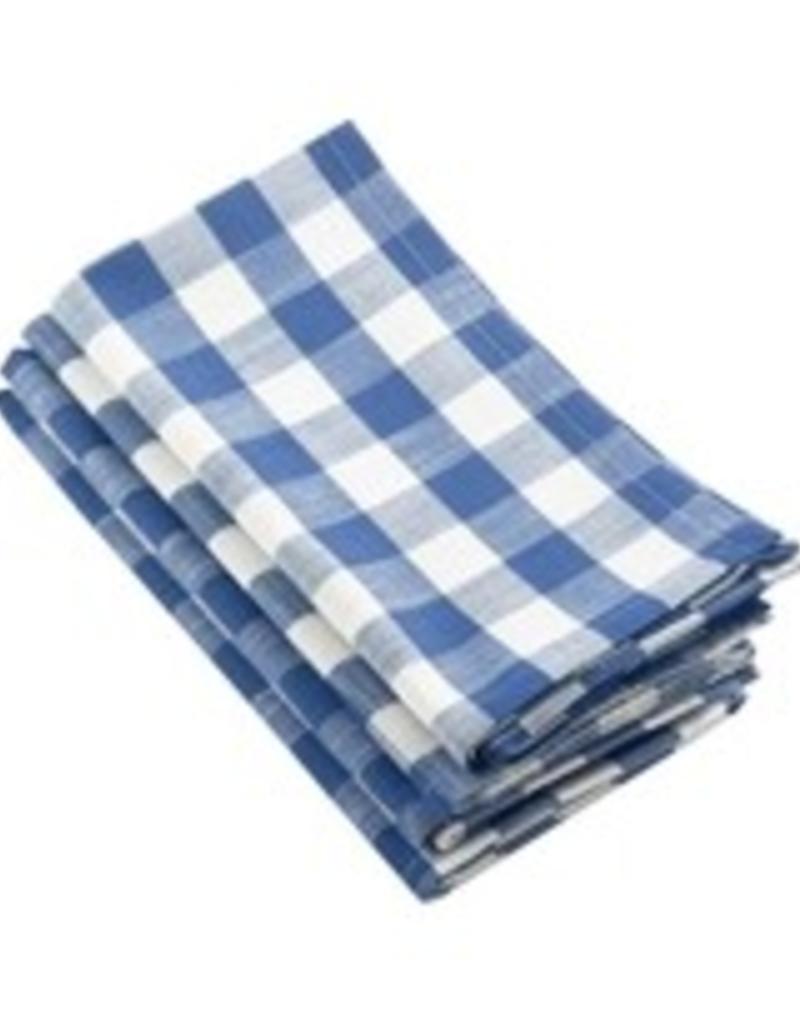 Saro Trading Company French Blue Gingham Design Napkins