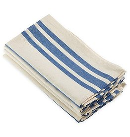 Saro Trading Company French Blue Striped Napkin
