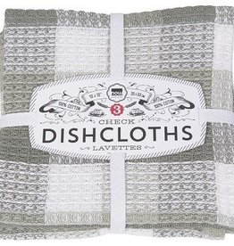 Danica London Gray Check-it Dishcloths