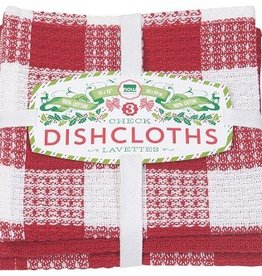 Danica Red Check Dishcloths, Set of 3