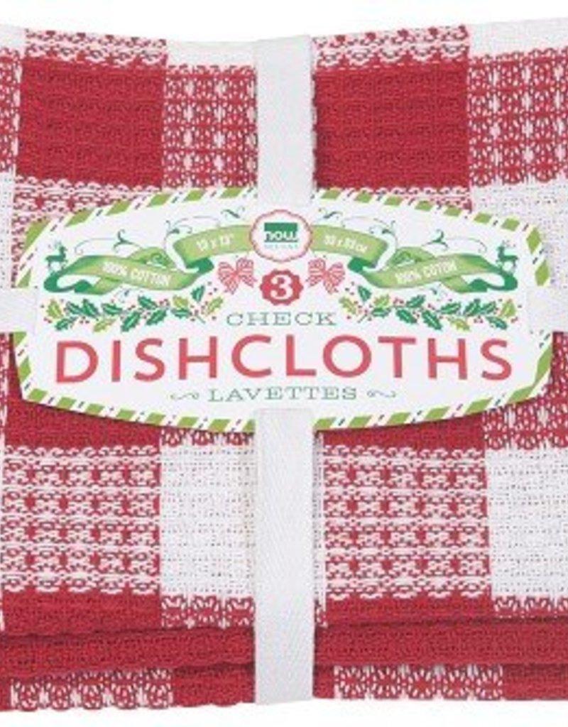 Danica Red Check Dishcloths, Set of 3