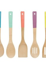 Danica Set of 5 Bamboo Utensils Multi Colour