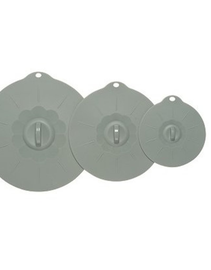 Danica Silicone Suction Lids, Gray, Set of 3