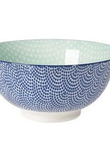 Danica Stamped Blue Waves Aqua Bowl