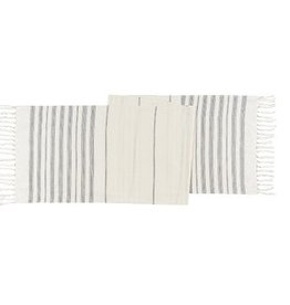 Danica Terra Stripe Ivory Table Runner