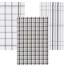 Danica Wilson Slate & Sand Tea Towels, Set of 3