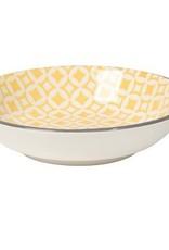 Danica Yellow Diamonds Dip Bowl