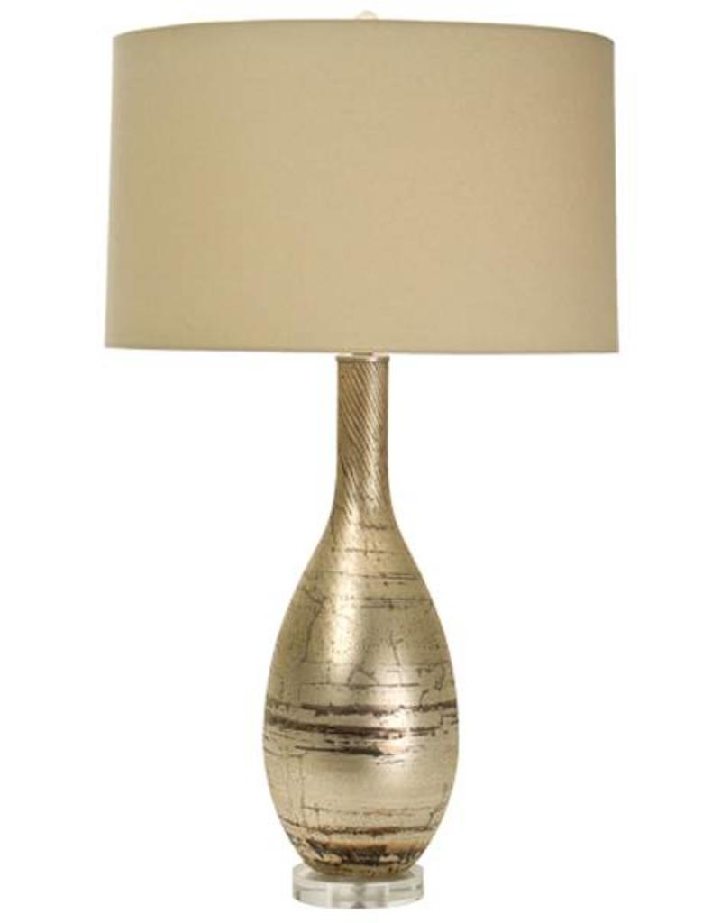 The Natural Light Joudain - Lakeside Silver Table Lamp