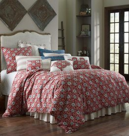 HiEnd Accents Bandera Bedding Set, 4 Piece, Super Queen