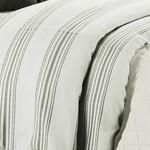 Prescott Taupe Striped Duvet - Super Queen