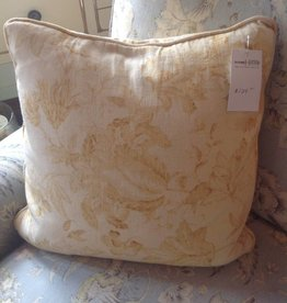 Yellow Toile Throw Pillow