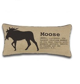 Alamode Home Moose Cushion 12x25