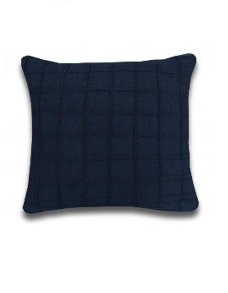 Alamode Home Rowan Navy Cushion 24x24