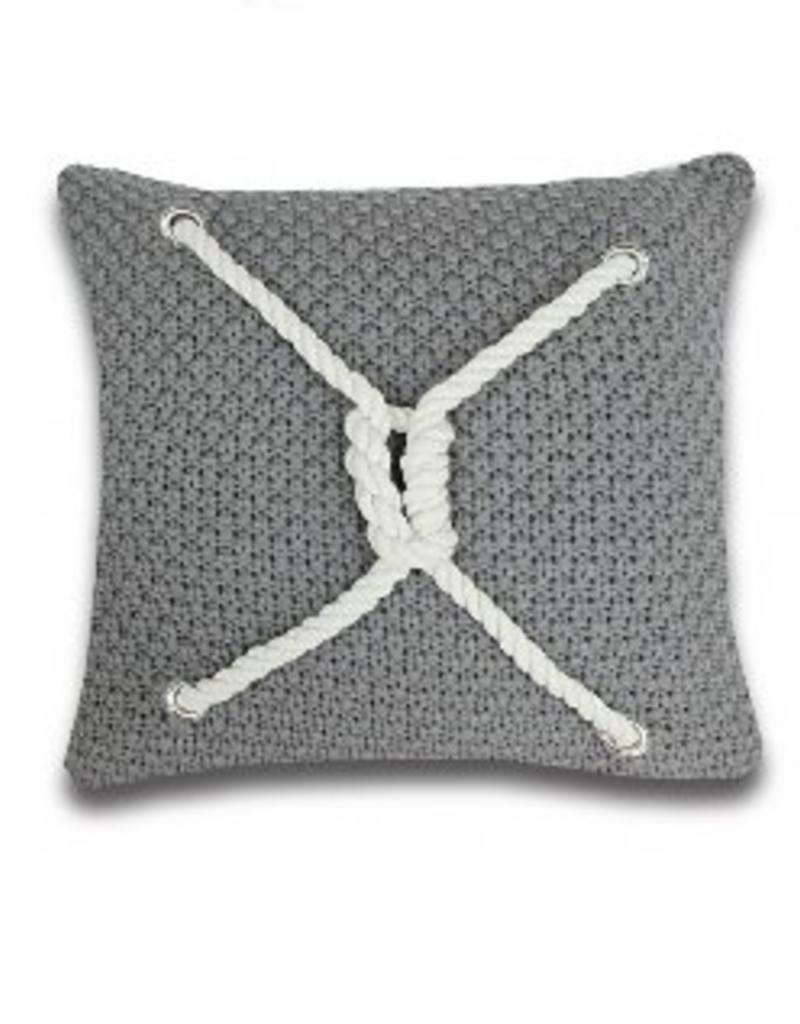 Alamode Home Ancon Grey Cushion 18x18