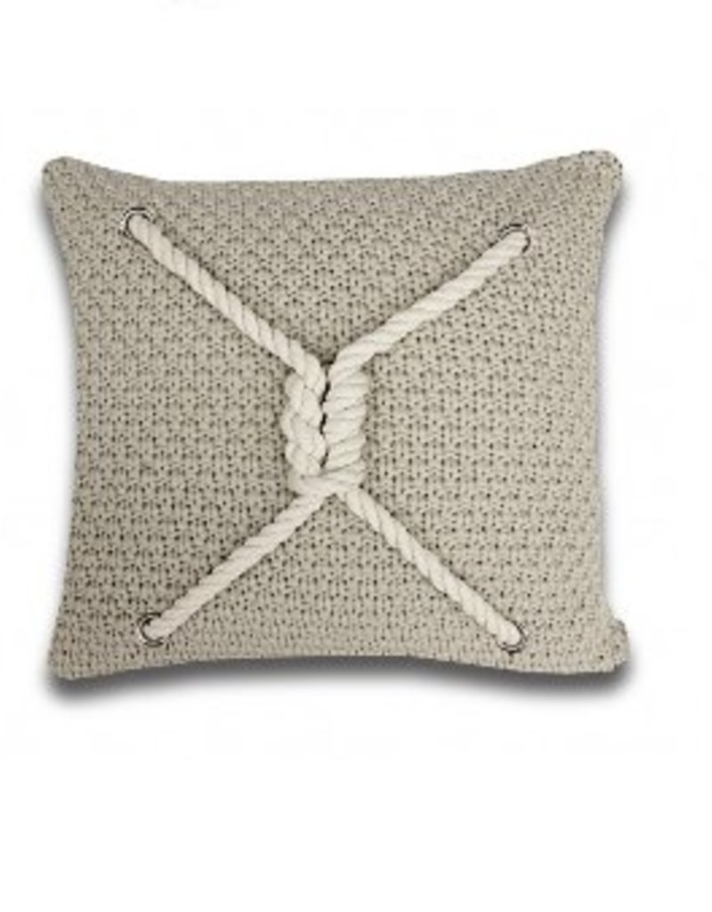 Alamode Home Ancon Taupe Cushion 18x18