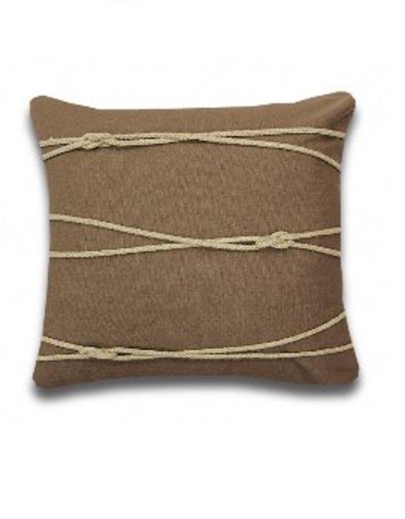 Alamode Home Mostyn Taupe Cushion