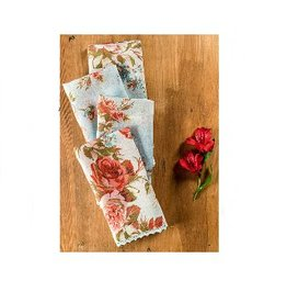 April Cornell Heirloom Rose Linen Napkins, Set of 4