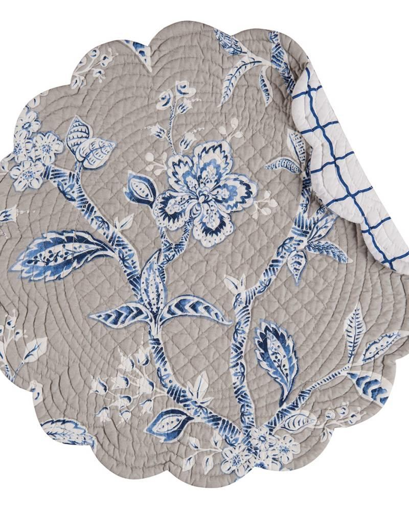 C&F Enterprises Annabelle Blue Round Placemat