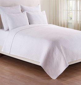 C&F Enterprises Basketweave White Full / Queen Quilt Set