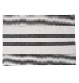 C&F Enterprises Black & White Striped Placemat