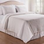 C&F Enterprises Manchester White Quilt Set - Queen