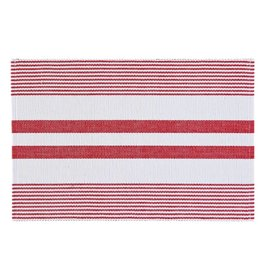 C&F Enterprises Red & White Striped Placemat