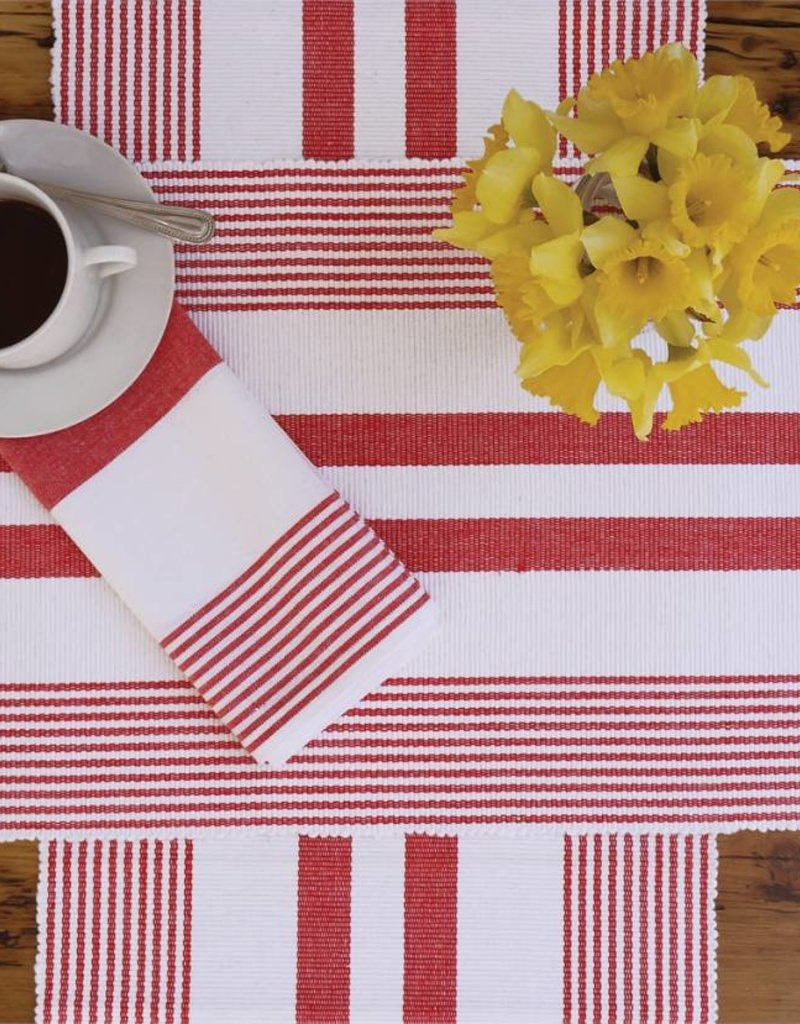 C&F Enterprises Red & White Striped Placemat