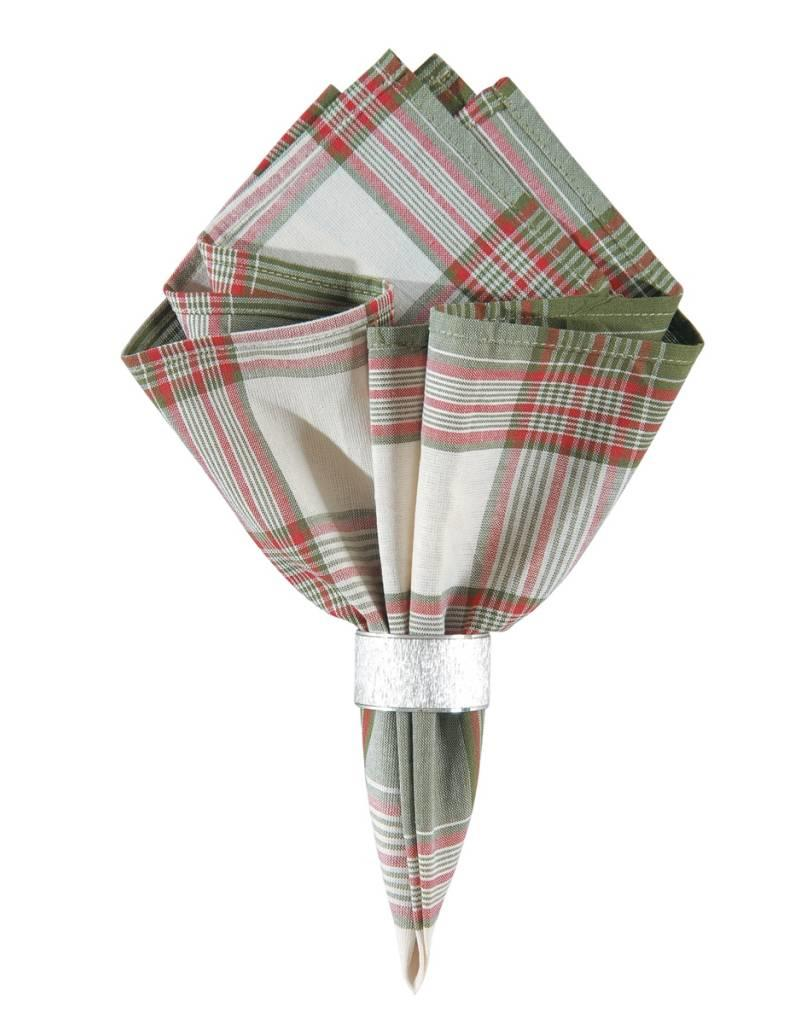 C&F Enterprises Red and Green Plaid Napkin