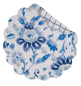 C&F Enterprises Sasha Blue Round Placemat