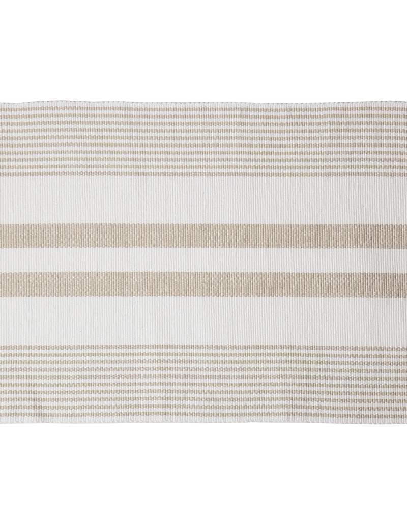 C&F Enterprises Sandstone & White Striped Placemat