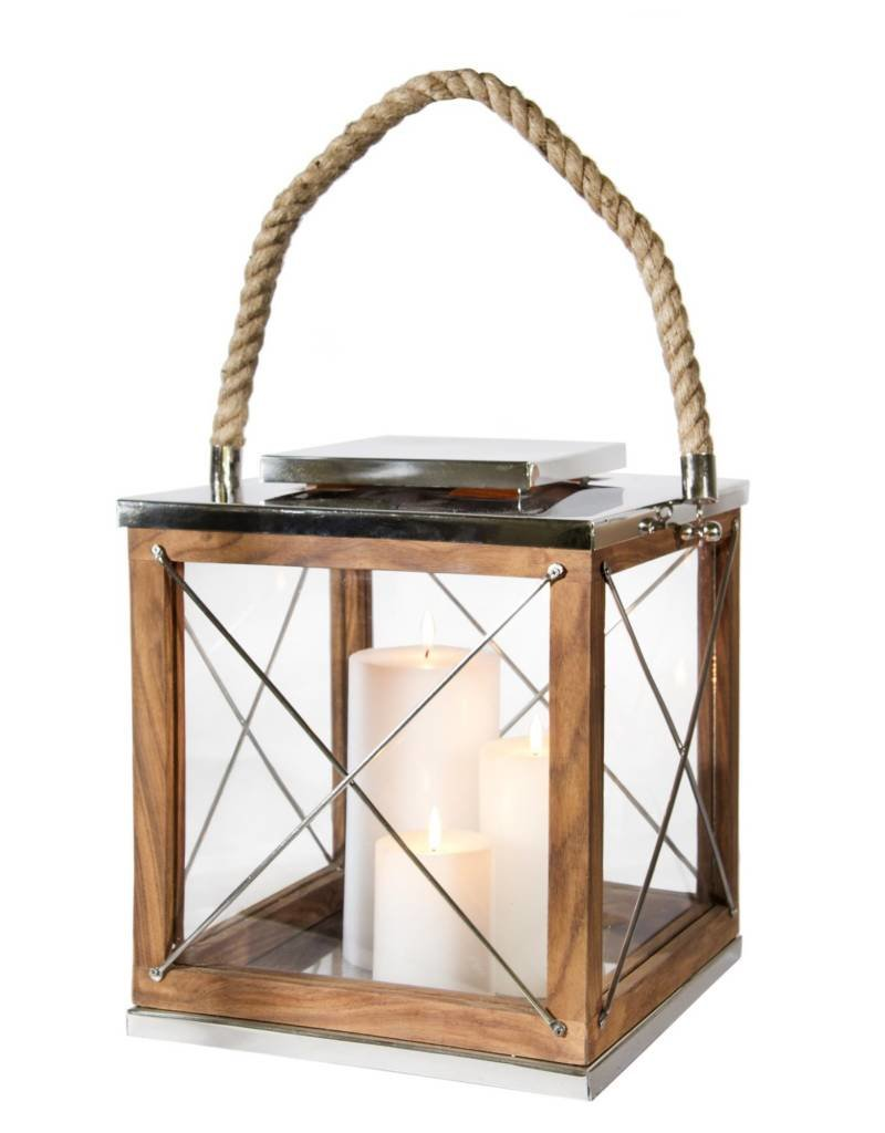 Canfloyd Wood and Steel Lantern