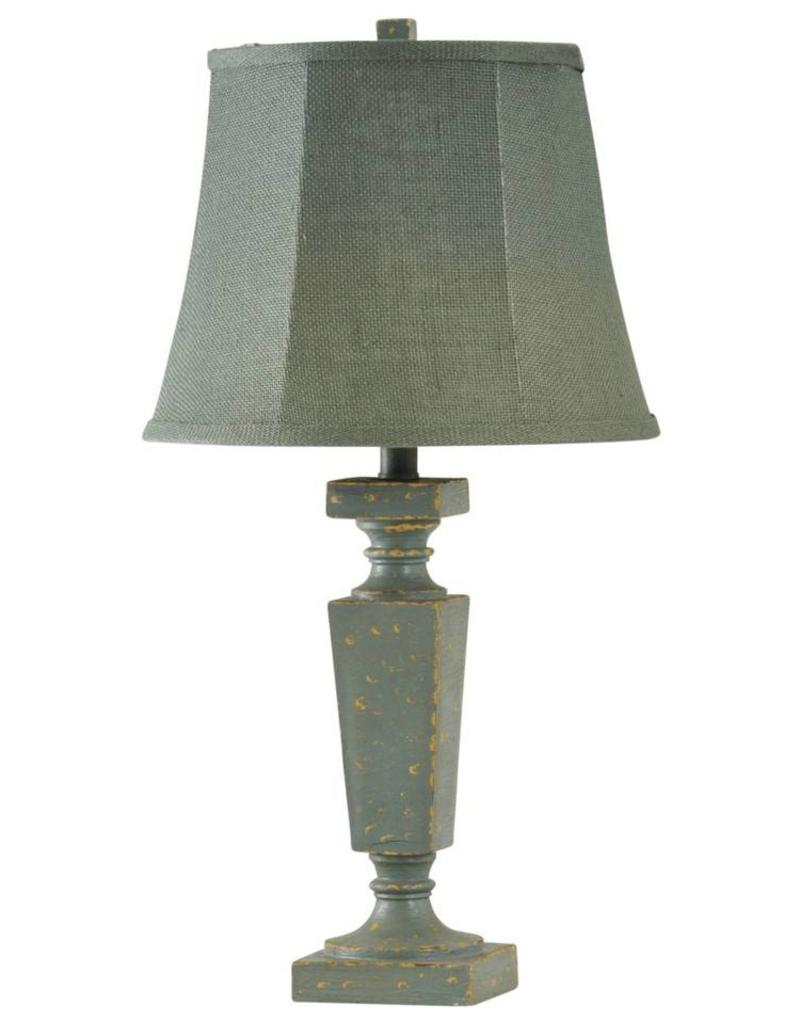 Style Craft Home Collection Accent Lamp in Palma Blue