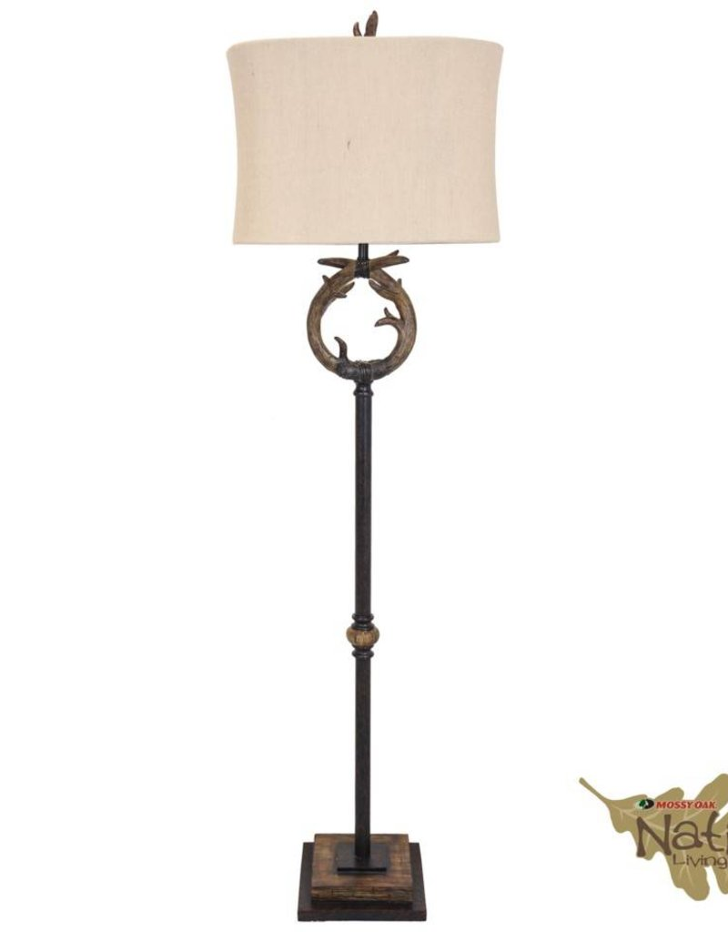 Style Craft Home Collection Floor Lamp with Antler Motif