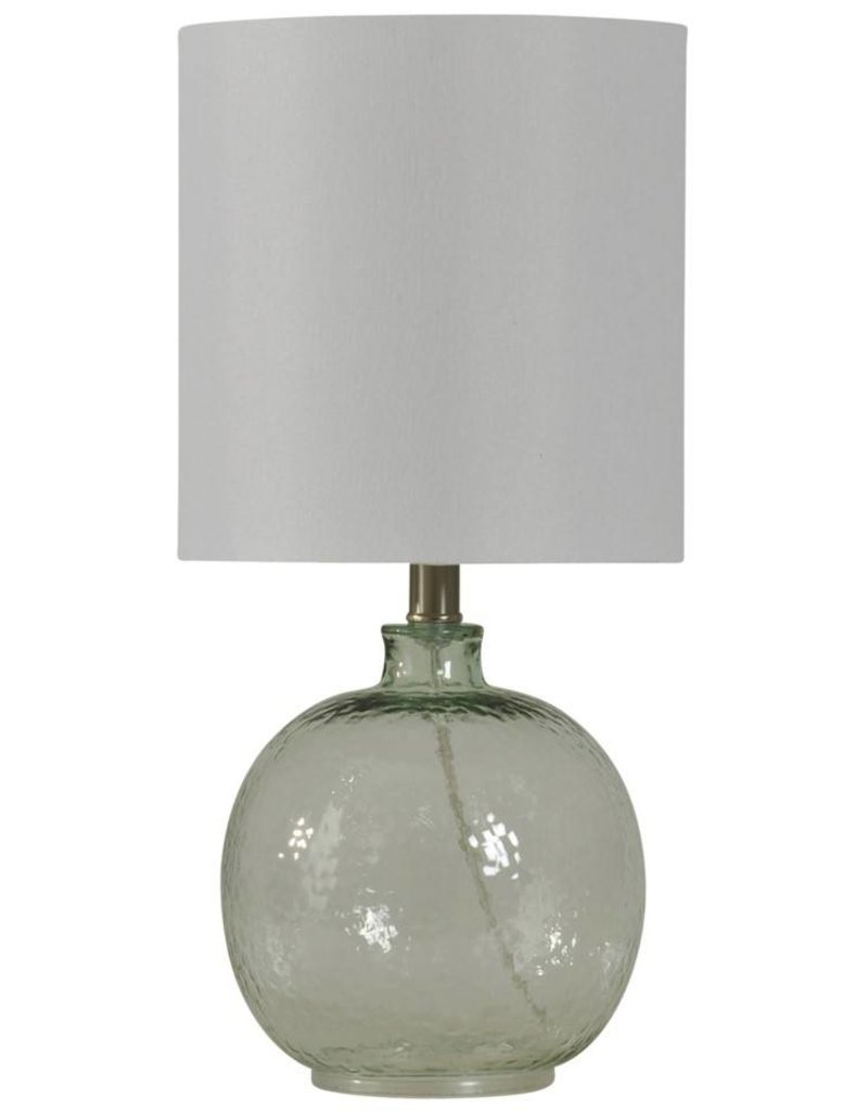 Style Craft Home Collection Mini Spanish Glass Ball Lamp, Clear