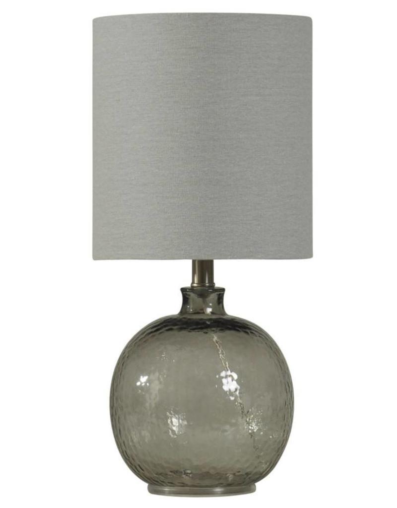 Style Craft Home Collection Mini Spanish Glass Ball Lamp, Smoke